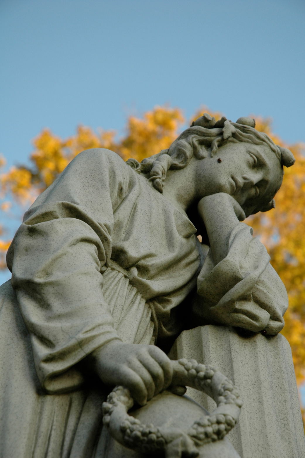 angel monument in the Mount Hope Cemetery