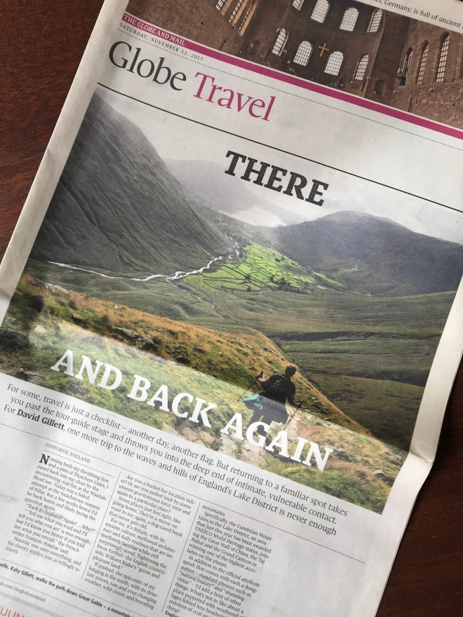 front page of The Globe and Mail Travel section featuring an article about returning to the same destination more than once